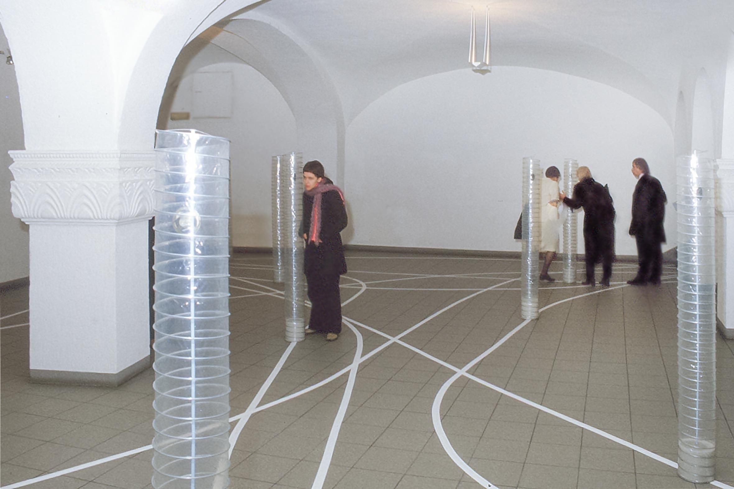 Tonia Bürkle (blaugrau): Raum Figur Weg für Hochschule für Gestaltung OffenbachRaum Figur Weg 2